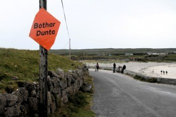 Bóthar Dúnta on Inis Mór, an Irish language speaking island.
