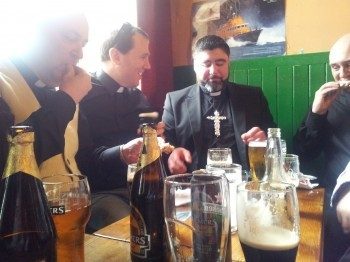 Priests drinking at TedFest