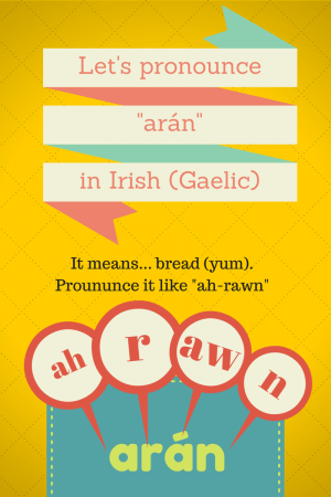 Pronounce Arán in Irish Gaelic