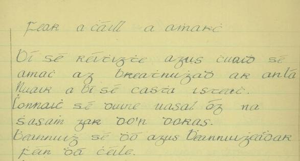 Irish language text from 1937.