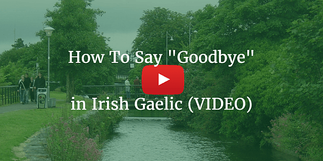 How to say the in irish