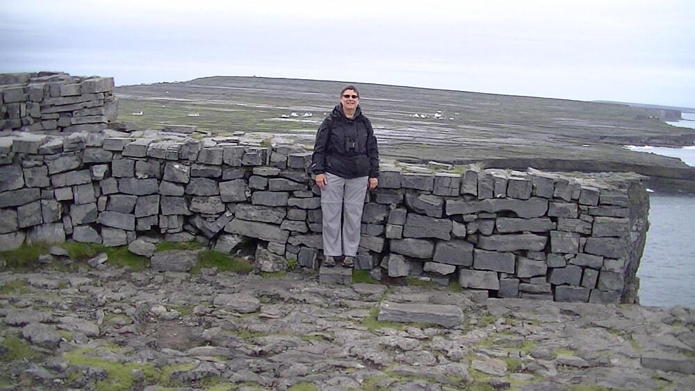 Marilyn_Kuchta at the top of Dun Aengus on Inishmor