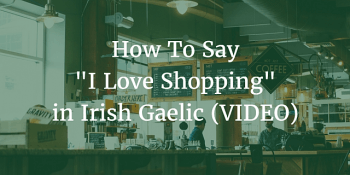 how to say I love shopping in Irish