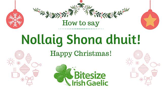Merry Christmas In Irish.How To Say Happy Christmas In Irish Video