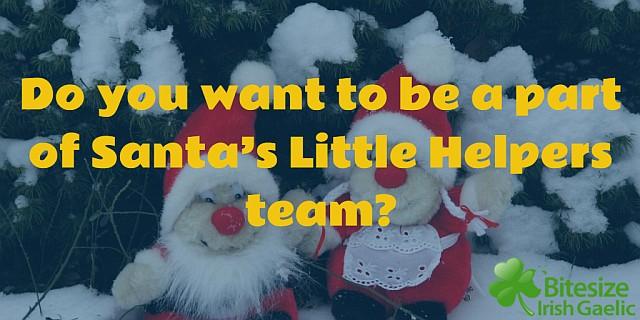Santa's little helpers team at Bitesize article