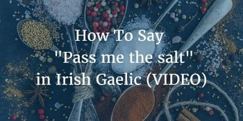 How To Say - Pass Me the Salt in Irish Gaelic (VIDEO)
