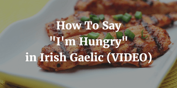 How To Say - I'm Hungry in Irish Gaelic (VIDEO)