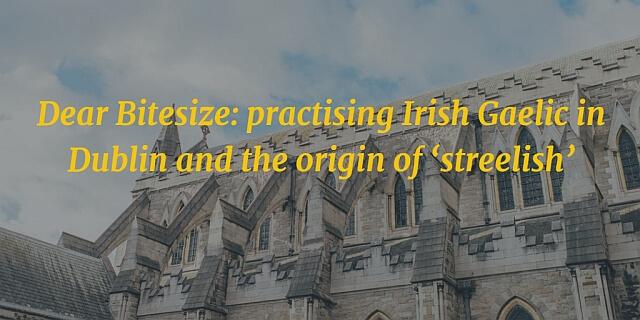 Dear Bitesize: practising Irish Gaelic in Dublin and the origin of 'streelish'