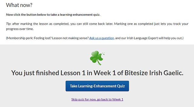 Learning-Enhancement Quiz