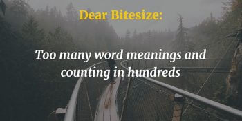Dear Bitesize: too many word meanings and counting in hundreds