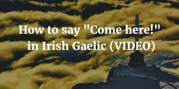 How To Say - Come here in Irish Gaelic (VIDEO)