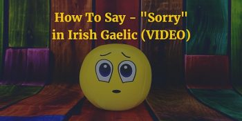 "How To Say - ""Sorry"" in Irish Gaelic (VIDEO)"