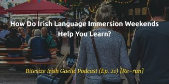 Irish immersion weekends help you learn