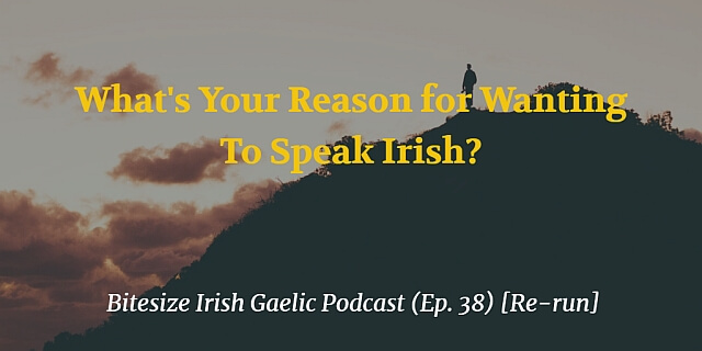 Reason for wanting to speak Irish