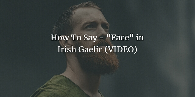How To Say - Face in Irish Gaelic (VIDEO)
