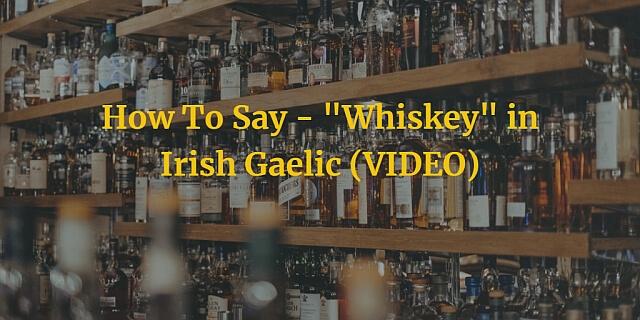 "How To Say - ""Whiskey"" in Irish Gaelic (VIDEO)"