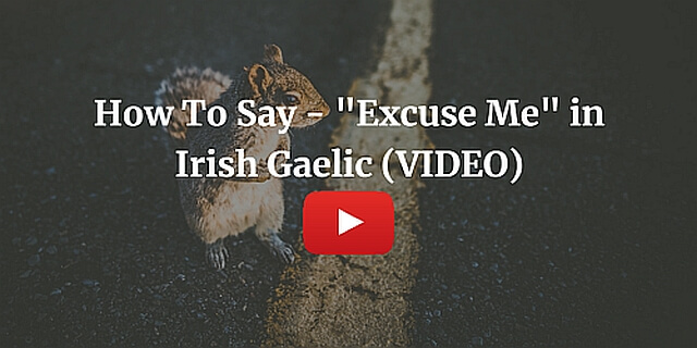 """How To Say - """"Excuse Me"""" in Irish Gaelic (VIDEO)"""