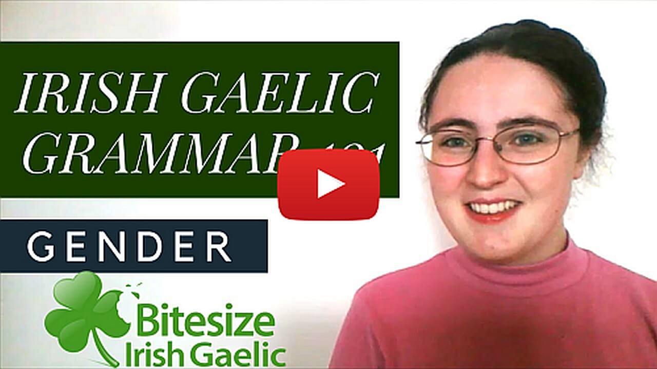 Irish Gaelic Grammar Image blog post