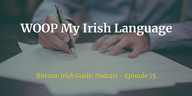What's really holding you back from really learning to speak the Irish language? Podcast episode on how to use the science-based method WOOP to learn Irish